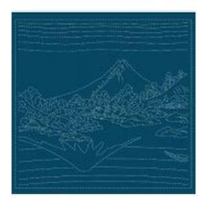 Hana-fukin Mount Fuji Ukiyoe Navy Fabric Pack