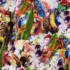 Early Bird Special - Tropical Bird Party Fabric 0.5m. Special Price