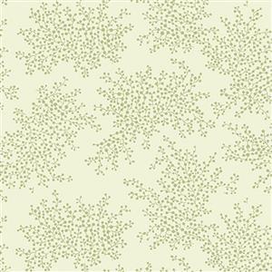 Henry Glass Violets Garden Fern Sage Fabric 0.5m