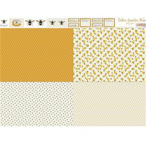 Amber Makes Busy Bee 4x Fatter Quarter Panel (140 x 113cm)