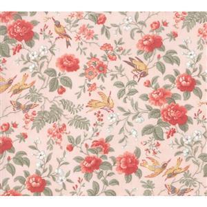 Moda Daybreak Aviary on Blush Fabric 0.5m