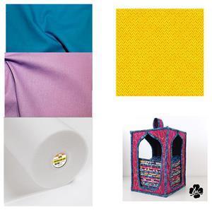 Orange, Amethyst & Sapphire Fat Quarter Storage Kit, Pattern, Style-Vil & Fabric (1.5m)