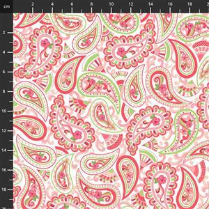 Let's Flamingle Pink Paisley Fabric 0.5m