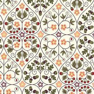 Liberty Orchard Garden Collection Salmon Garden Gates Fabric 0.5m