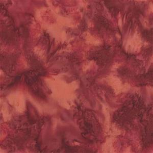 Hoffman Bali Hand-Dyed Batik Red Velvet Fabric 0.5m