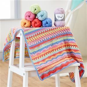 West Yorkshire Spinners Bo Peep DK Carousel Crochet Blanket Kit
