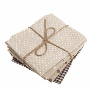 Naturals Fat Quarters Brown Pack of 4