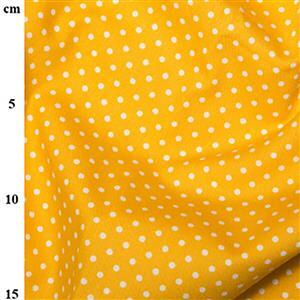 Rose and Hubble Cotton Poplin Spots on Yellow Fabric 0.5m