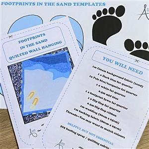 Allison Maryon's Footprints in the Sand Quilted Wall Hanging Instructions