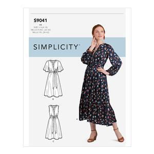 Simplicity Misses' Front Tie Dress: Size 16-24 USA (UK 24-28)