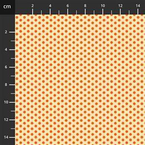Henry Glass Wild & Free Orange Spots Fabric 0.5m