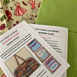 Allison Maryon's Cut, Piece and Press Sewing Case Full Kit; Instructions, Luminex, Webbing & Fabric Fawn Mannequin