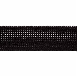 Essential Trimmings Black Cotton Webbing 1m