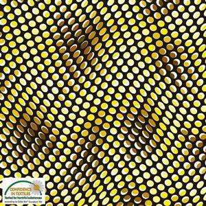 Stof Quilters Co-Ordinates Psychedelic Yellow Dots Fabric 0.5m