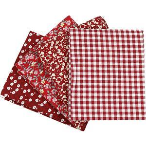 Red Patchwork 4 Piece Fat Quarter Pack
