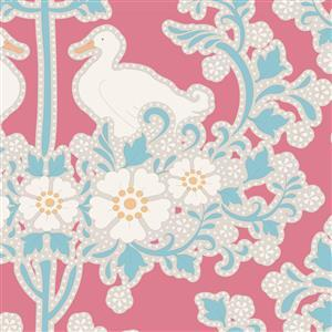Tilda Plum Garden in Duck Nest Peach Fabric 0.5m
