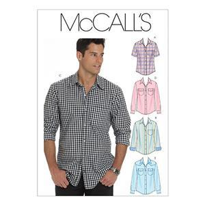 McCall's Mens Shirts Pattern: S-L