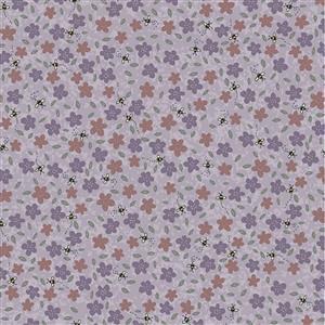 Lynette Anderson Sunshine After The Rain Violet Haze Fabric 0.5m