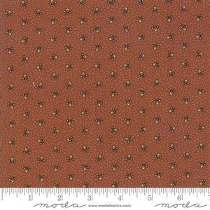 Moda Lancaster in Off Red Floral Dot Fabric 0.5m