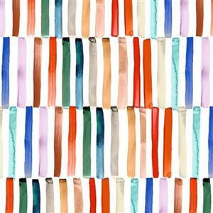 Ink Unleashed Offset Stripes Multi Fabric 0.5m