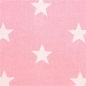 Large Star Candy Pink Fabric 0.5m