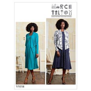 Misses' Shrug and Dress Sewing Pattern Sizes XSM- MED