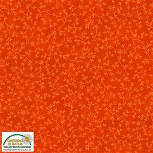 Stof Quilters Vines Terraotta Fabric 0.5m
