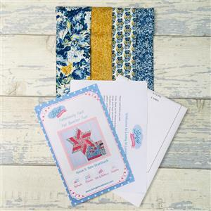 Living in Loveliness Fabulously Fast Fat Quarter Fun - Issue 5 - Sew Starstruck - Liberty Blue