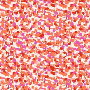Marisol Abstract Geometric Orange Fabric 0.5m