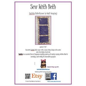 Sew with Beth Sashiko Table Runner Pattern