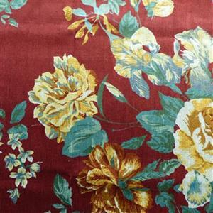 Floral Rennainssance Rouge Fabric 0.5m