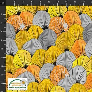 Medinilla Monkey Autumn Grey Fabric 0.5m