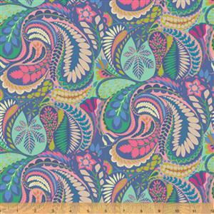 Solstice Prince Paisley on Blue Fabric 0.5m