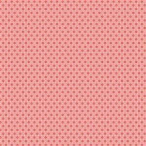 Poppie Cotton Chick-A-Doodle-Doo Florets on Pink Fabric 0.5m UK exclusive