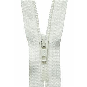 Cream Nylon Zip: 30cm
