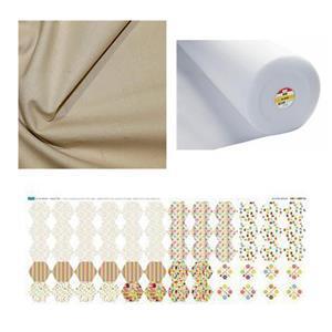 In The Kitchen Autumn Days Hexie Purse Bundle: Fabric Panel, Fabric (1m) & Fleece (1m)