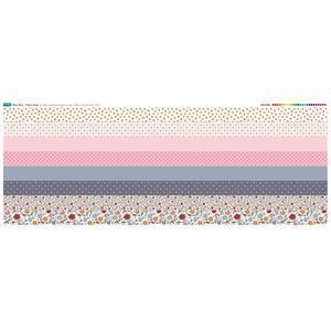 Ditsy Bitsy 8 Fabric Strips Panel: 140 x 59cm