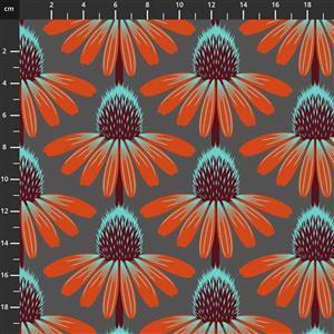 Anna Maria Horner Love Always Orange Flower Head Fabric 0.5m