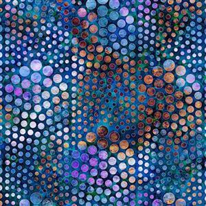Dan Morris Aquatica Blue Bubbles Fabric 0.5m