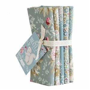 Tilda Woodland Fat Quarter Green-Sage Bundle Pack of 5 Pieces