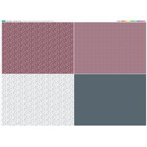 Misty Kitchen 4 FQ's Fabric Panel. 140cm x 107cm. Exclusive