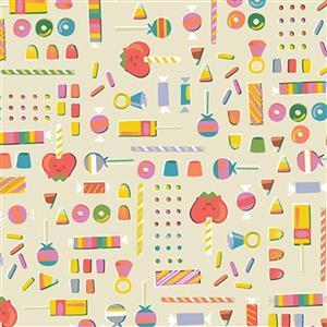 Riley Blake Tiny Treaters Cream Sweet Fabric 0.5m