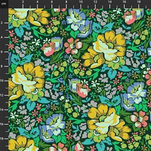 Anna Maria Horner Love Always Multi Yellow Flower Fabric 0.5m
