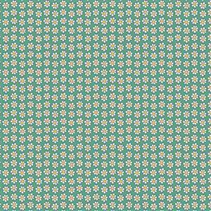 Liberty Carnaby Collection Daisy Dot Dark Green Fabric 0.5m