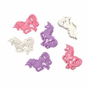 Novelty Unicorns Buttons Pack of 6