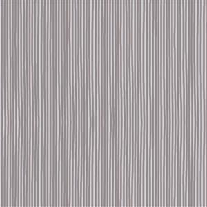 Hannah Basic Light Grey Stripes Fabric 0.5m
