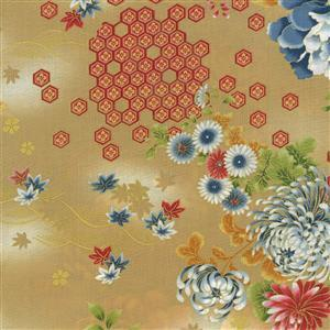 Kujo Beige Metallic Fabric 0.5m