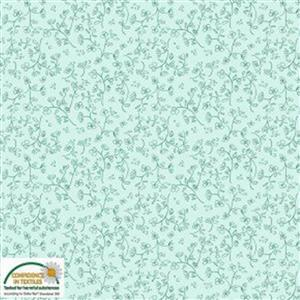 Gradiente Floral Outlines On Mint Fabric 0.5m