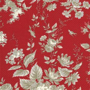 Moda Roselyn in Red Cross Floral Fabric 0.5m