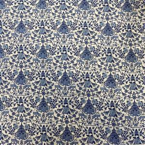Chinoiseire Pagoda White Fabric 0.5m